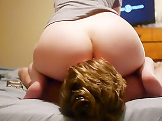 Riding my Bf's Face and He helps finish me off at the end